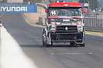 Portuguese driver Jose Ferando Araujo Rodrigues belonging Portuguese team Jose Ferando Araujo Rodrigues during the super pole SP2 of the XXX Spain GP Camion of the FIA European Truck Racing Championship 2016 in Madrid. October 02, 2016. (ALTERPHOTOS/Rodrigo Jimenez)