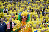 SÃO PAULO,SP, 29.06.2017 – BRASIL-POLÔNIA – Torcida do Brasil durante partida contra a Polônia, amistoso internacional de vôlei feminino realizado no Ginásio do Ibirapuera em São Paulo, na noite desta quinta-feira, 29. (Foto: Levi Bianco / Brazil Photo Press)