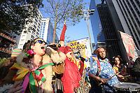 SÃO PAULO, SP, 11.06.2016 - PROTESTO-SP- Protesto em formato de Blocos de rua denominado Treme Temer, contra o presidente interino do Brasil, Michel Temer na avenida Paulista  em São Paulo (SP), neste sábado (11).(Foto: Yuri Alexandre/Brazil Photo Press)