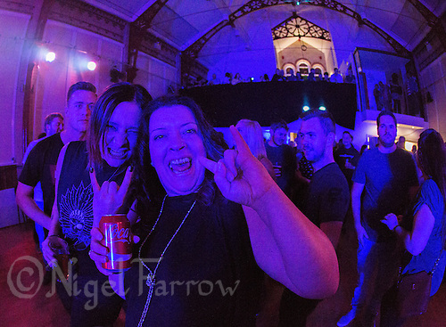 19 SEP 2015 - STOWMARKET, GBR - Renegade Twelve fans wait for the bands performance at  the Friends of Pikes Meadow benefit night at the John Peel Centre for Creative Arts in Stowmarket, Suffolk, Great Britain (PHOTO COPYRIGHT © 2015 NIGEL FARROW, ALL RIGHTS RESERVED)