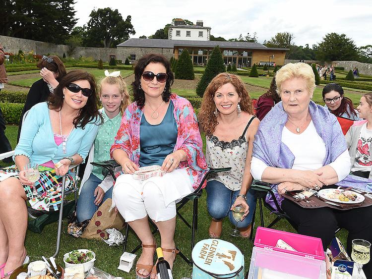 Fiona O'Reilly, Niamh Cullen, Sinead Cullen, Ailish O'Reilly Cullen and Fiona Cullen pictured at Wuthering Heights at Oldbridge House. Photo:Colin Bell/pressphotos.