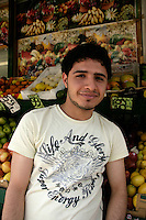 Turkish grocer on Green Lanes in Haringey, London, UK