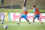 Keisuke Honda, Yoshito Okubo (JPN),<br /> JUNE 22, 2014 - Football / Soccer : Japan's national soccer team training session at Japan's team base camp at Training Site Pass in Itu Brazil.<br /> (Photo by Kenzaburo Matsuoka/AFLO)