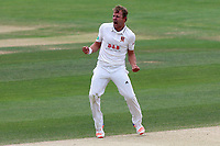 Neil Wagner of Essex celebrates taking the wicket of Ian Bell during Essex CCC vs Warwickshire CCC, Specsavers County Championship Division 1 Cricket at The Cloudfm County Ground on 22nd June 2017