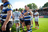 Jack Walker of Bath Rugby celebrates the win after the match. Aviva Premiership match, between Bath Rugby and Saracens on September 9, 2017 at the Recreation Ground in Bath, England. Photo by: Patrick Khachfe / Onside Images