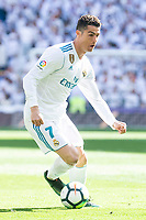 Real Madrid Cristiano Ronaldo during La Liga match between Real Madrid and Atletico de Madrid at Santiago Bernabeu Stadium in Madrid, Spain. April 08, 2018. (ALTERPHOTOS/Borja B.Hojas) /NortePhoto NORTEPHOTOMEXICO