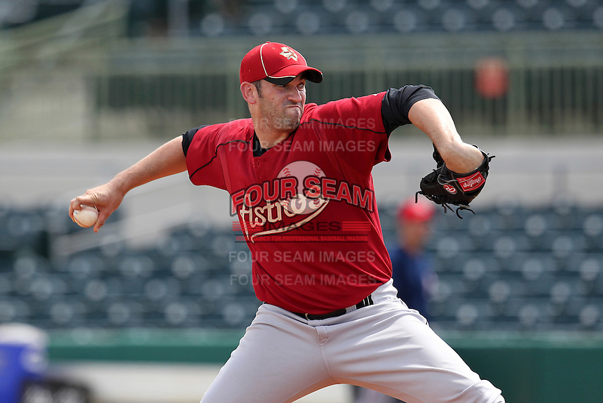 Houston Astros pitcher Josh Zeid #27 during an Instructional League game against the Washington Nationals at Osceola County Stadium on September 26, 2011 in Kissimmee, Florida.  (Mike Janes/Four Seam Images)
