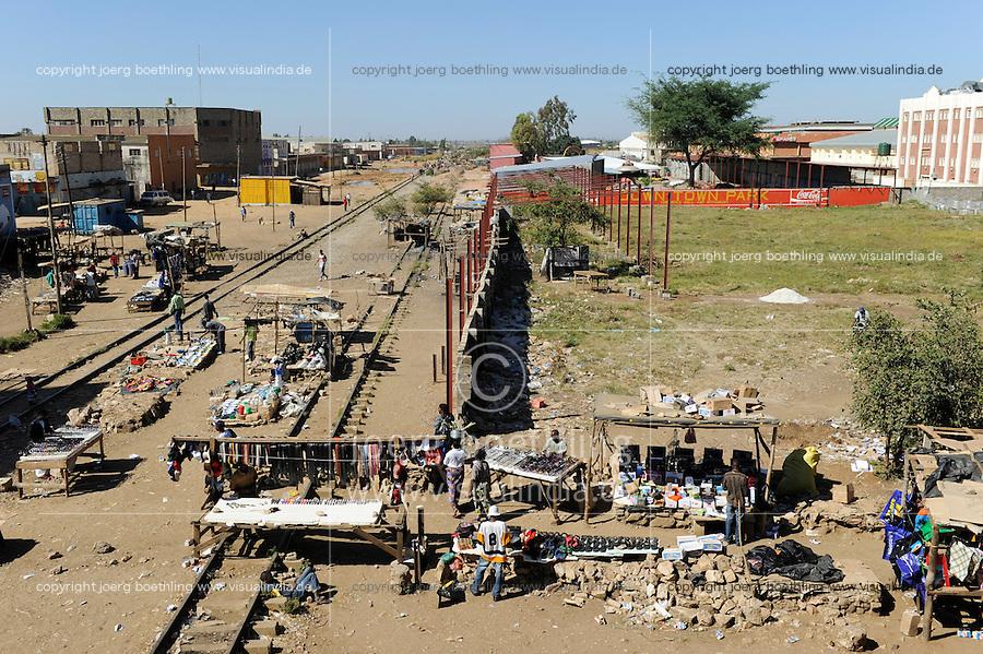 ZAMBIA Lusaka, railway in city centre / SAMBIA Lusaka, Eisenbahn im Zentrum