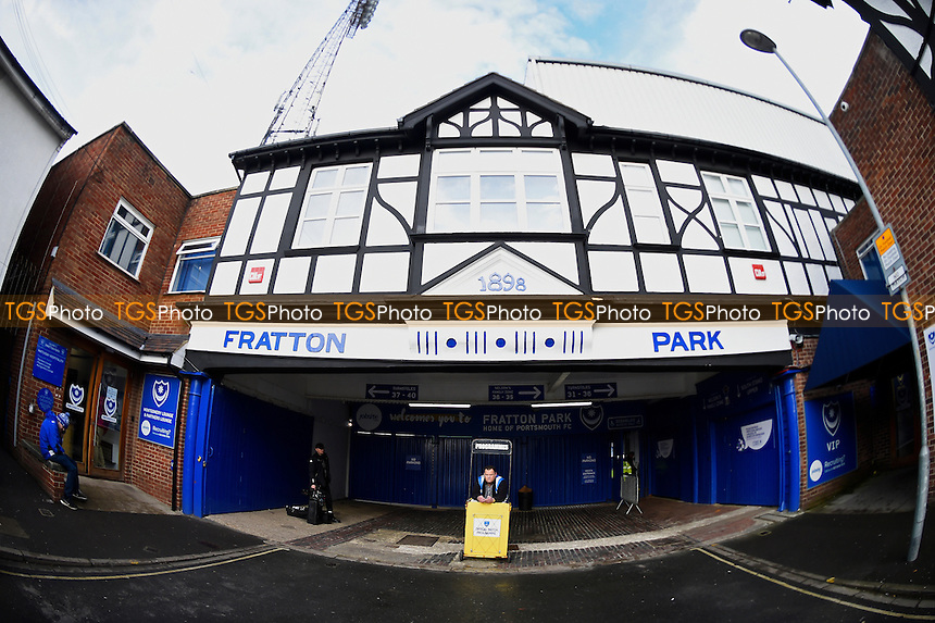 The Fratton Park entrance during Portsmouth vs Exeter City, Sky Bet EFL League 2 Football at Fratton Park on 28th January 2017