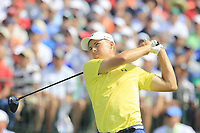 Jordan Spieth (USA) tees off the 1st tee to start his match during Saturday's Round 3 of the 117th U.S. Open Championship 2017 held at Erin Hills, Erin, Wisconsin, USA. 17th June 2017.<br /> Picture: Eoin Clarke | Golffile<br /> <br /> <br /> All photos usage must carry mandatory copyright credit (&copy; Golffile | Eoin Clarke)