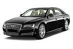 Front three quarter view of a 2013 Audi A8 L W12 4 Door Sedan 4WD