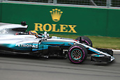 June 9th 2017, Montreal, Canada; Formula 1 Grand prix of Canada, Free practise day;  Lewis Hamilton - Mercedes AMG Petronas F1 W08 EQ Energy+
