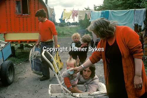 Gypsy family mother children  West Coast Southern Ireland Eire