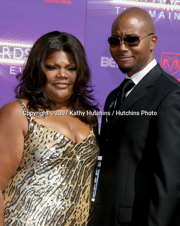 Monique & husband.BET Awards 2007.Shrine Auditorium.Los Angeles, CA.June 26, 2007.©2007 Kathy Hutchins / Hutchins Photo....