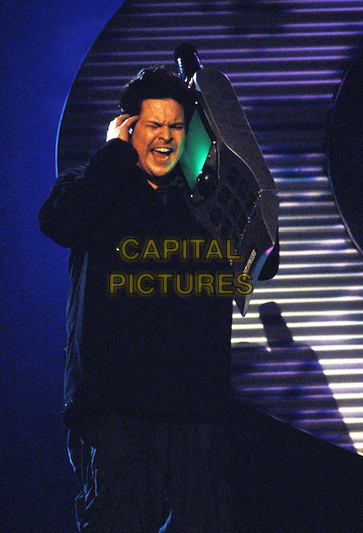 DOM JOLY - TRIGGER HAPPY TV.Ref: 9402.www.capitalpictures.com.sales@capitalpictures.com.©Capital Pictures.mobile phone