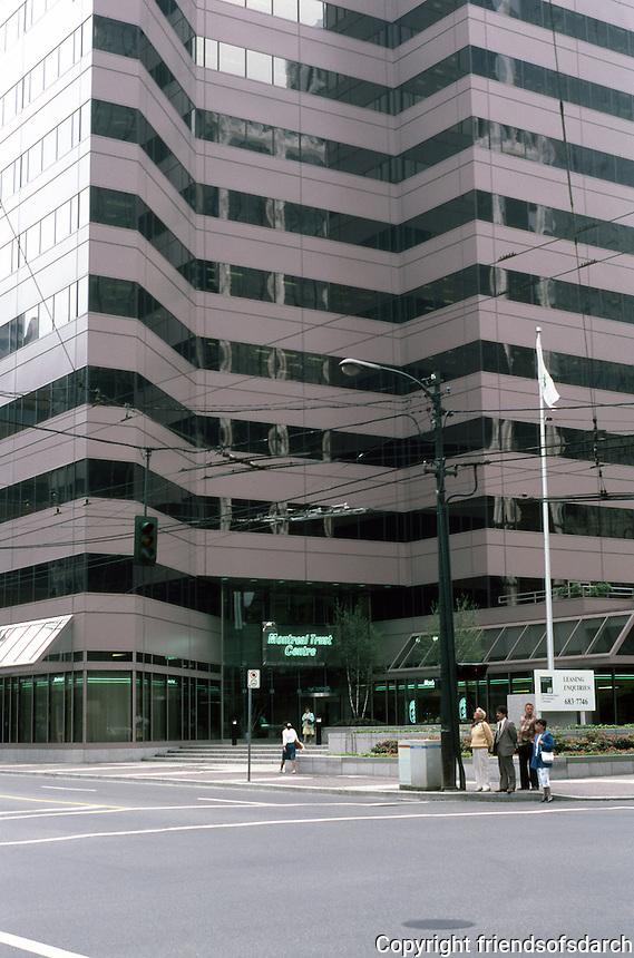 Vancouver: Montreal Trust Centre, SE corner Burrard & W. Pneder.  Photo '86.