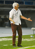 BARRANQUILLA - COLOMBIA, 25-04-2018: Julio Comesaña director técnico del Atlético Junior  durante partido contra el Atlético Nacional  partido por la fecha 16 de la Liga Águila I 2018 jugado en el estadio Metropolitano Roberto Meléndez de la ciudad de Barranquilla. / Julio Comesana coach of Atletico Junior during match agaisnt  of Atletico Nacional   during the match for the date 16  of the Liga Aguila I 2018 played at the Metropolitano Roberto Melendez Stadium in Barranquilla city. Photo: VizzorImage / Alfonso Cervantes / Contribuidor