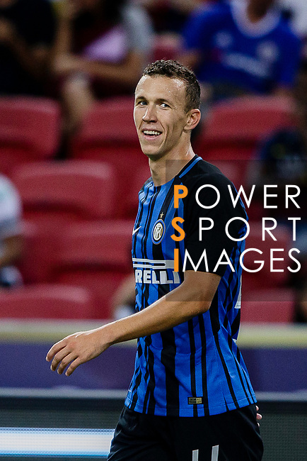 FC Internazionale Forward Ivan Perisic celebrating his score during the International Champions Cup 2017 match between FC Internazionale and Chelsea FC on July 29, 2017 in Singapore. Photo by Marcio Rodrigo Machado / Power Sport Images