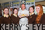 Listowel Food Fair: Students from Presentation Listowel pictured with chef Mark Doe at the cooking demonstration on minimizing waste at ther Listowel arms Hotel on Friday last as part of the Listowel Food fair. L - R: Bridget Sheahan, Ann Marie Swain, Chef mark Doe, Jana Finnucane & Aoife Kissane.