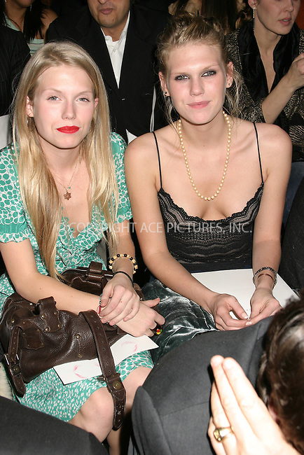 WWW.ACEPIXS.COM . . . . . ....NEW YORK, FEBRUARY 7, 2005....Theodora Richards and Alexandra Richards at the Fall 2005 Marc Jacobs show.....Please byline: ACE009 - ACE PICTURES.. . . . . . ..Ace Pictures, Inc:  ..Philip Vaughan (646) 769-0430..e-mail: info@acepixs.com..web: http://www.acepixs.com