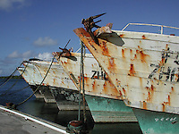 Republic of China long line fishing boats, Yap, Micronesia.