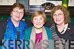 Old friends who used to work as nurses in England celebrated their birthday's in Squires bar Killarney on Saturday night l-r: Kathleen Walsh Knocknagoshel, Noreen Dineen Killarney and Margaret Relihan Gneeveguilla....