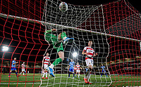 Doncaster Rovers' Ian Lawlor makes a save<br /> <br /> Photographer Alex Dodd/CameraSport<br /> <br /> The EFL Sky Bet League One - Doncaster Rovers v Blackpool - Tuesday September 17th 2019 - Keepmoat Stadium - Doncaster<br /> <br /> World Copyright © 2019 CameraSport. All rights reserved. 43 Linden Ave. Countesthorpe. Leicester. England. LE8 5PG - Tel: +44 (0) 116 277 4147 - admin@camerasport.com - www.camerasport.com