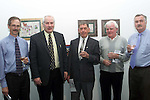 Maurice O'Connor, Peter Nolan, Johnny Gregory, Paddy Martin and Derek Latimer at the art exhibition by 16yr old James Culligan in the Droichead Arts Centre..Picture Paul Mohan Newsfile
