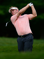 Potomac, MD - July 1, 2017: Billy Hurley III tees off on the 9th hole during Round 3 of professional play at the Quicken Loans National Tournament at TPC Potomac at Avenel Farm in Potomac, MD, July 1, 2017.  (Photo by Don Baxter/Media Images International)