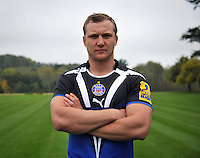 New signing Nick Koster poses for a portrait. Bath Rugby Photocall on October 25, 2012 at Farleigh House in Bath, England. Photo by: Patrick Khachfe/Onside Images