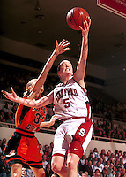 STANFORD, CA - JANUARY 13: Christina Batastini of the Stanford Cardinal during Stanford's 78-58 win over the Oregon State Beavers on January 13, 2000 at Maples Pavilion in Stanford, California.