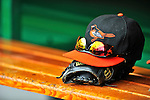 19 June 2011: Baltimore Orioles' Caps, Gloves & Shades lie in the dugout during a game against the Washington Nationals on Father's Day at Nationals Park in Washington, District of Columbia. The Orioles defeated the Nationals 7-4 in inter-league play, ending Washington's 8-game winning streak. Mandatory Credit: Ed Wolfstein Photo