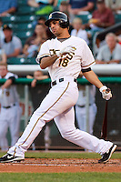 May 18, 2009:  Sean Rodriguez of the Salt Lake Bees, Pacific Cost League Triple A affiliate of the Los Angeles (Anaheim) Angles, during a game at the Spring Mobile Ballpark in Salt Lake City, UT.  Photo by:  Matthew Sauk/Four Seam Images