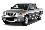 Front three quarter view of a 2013 Nissan Titan SL Crew Cab 2wd