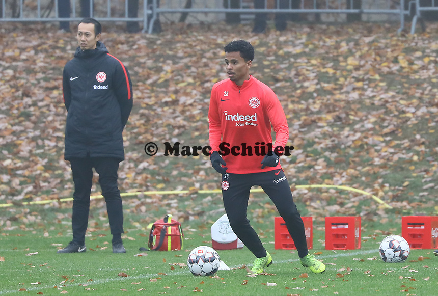 Allen Rodrigues de Souza (Eintracht Frankfurt) - 14.11.2018: Eintracht Frankfurt Training, Commerzbank Arena, DISCLAIMER: DFL regulations prohibit any use of photographs as image sequences and/or quasi-video.
