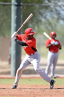 Cincinnati Reds infielder Carlton Daal (79) during an Instructional League game against the Texas Rangers on October 7, 2013 at Goodyear Training Complex in Goodyear, Arizona.  (Mike Janes/Four Seam Images)