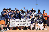 East Cobb Baseball team wins the WWBA World Championship 2012 at the Roger Dean Complex on October 29, 2012 in Jupiter, Florida. (Stacy Jo Grant/Four Seam Images)