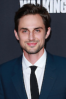 UNIVERSAL CITY, CA, USA - OCTOBER 02:  Andrew J. West<br />  arrives at the Los Angeles Premiere Of AMC's 'The Walking Dead' Season 5 held at AMC Universal City Walk on October 2, 2014 in Universal City, California, United States. (Photo by David Acosta/Celebrity Monitor)