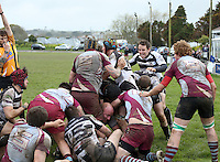 The win is sealed as the referee confirms the try as Simon Bailey in the middle of OPM legs grounds the ball as Falmouth led by Tom Spiller celebrate the win. The last game of the season came down to the last play of the game as Falmouth Eagles drove the ball over the whitewash to claim the game 18-14 with their last attack of the season. A enthralling game of rugby took place at the Rec as both teams had momentum throughout the game but it was the Eagles who triumphed thanks to Simon Baileys well deserved last second try.