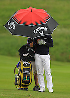 Matteo Manassero (ITA) on the 1st fairway during Round 2 of the 100th Open de France, played at Le Golf National, Guyancourt, Paris, France. 01/07/2016. <br /> Picture: Thos Caffrey | Golffile<br /> <br /> All photos usage must carry mandatory copyright credit   (&copy; Golffile | Thos Caffrey)
