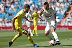 Real Madrid's Carlos Henrique Casemiro and Villarreal CF's Pedraza during La Liga match between Real Madrid and Villarreal CF at Santiago Bernabeu Stadium in Madrid, Spain. May 05, 2019. (ALTERPHOTOS/A. Perez Meca)