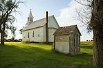 Outhouse behind United Methodist Church, Studley, Kansas