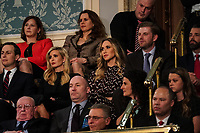 FEBRUARY 5, 2019 - WASHINGTON, DC: Jared Kushner, Ivanka Trump, Lara Trump, Eric Trump, and Donald Trump, Jr. during the State of the Union address at the Capitol in Washington, DC on February 5, 2019. <br /> CAP/MPI/RS<br /> &copy;RS/MPI/Capital Pictures