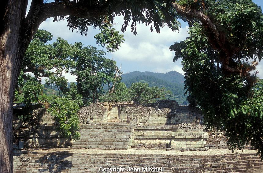 Temple 22 at the Mayan ruins of Copan, Honduras