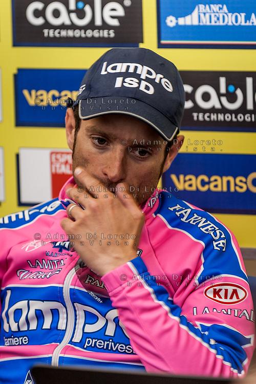 [ENG] Cyclism: Michele Scarponi won the 4th stage of Tirreno Adriatico in Chieti, Abruzzo. March, 2011. Photo by Adamo Di Loreto --------- [ITA] Ciclismo: Michele Scarponi vince la 4a tappa della Tirrenno Adriatico a Chieti, in Abruzzo - Marzo, 2011. Foto di Adamo Di Loreto