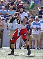 Annapolis, MD - September 23, 2017: Cincinnati Bearcats quarterback Hayden Moore (8) throws a pass during the game between Cincinnati and Navy at  Navy-Marine Corps Memorial Stadium in Annapolis, MD.   (Photo by Elliott Brown/Media Images International)