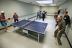 Seniors practice for the Reno-Tahoe Senior Winter Games table tennis competition at the Carson City Senior Citizen Center in Carson City, Nev., on Friday, Jan. 29, 2016. <br /> Photo by Cathleen Allison/Nevada Photo Source