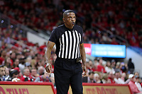 RALEIGH, NC - JANUARY 9: Official Ted Valentine during a game between Notre Dame and NC State at PNC Arena on January 9, 2020 in Raleigh, North Carolina.
