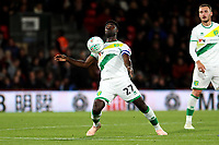 Alexander Tettey of Norwich City wins the aerial ball during AFC Bournemouth vs Norwich City, Caraboa Cup Football at the Vitality Stadium on 30th October 2018