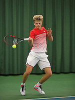 Rotterdam, The Netherlands, March 20, 2016,  TV Victoria, NOJK 14/18 years, Len Schouten (NED)<br /> Photo: Tennisimages/Henk Koster